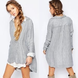 Free People On The Road Striped Soft Tunic Top